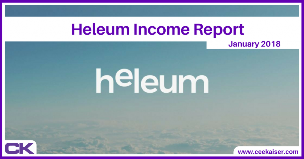 Heleum Income Report January 2018