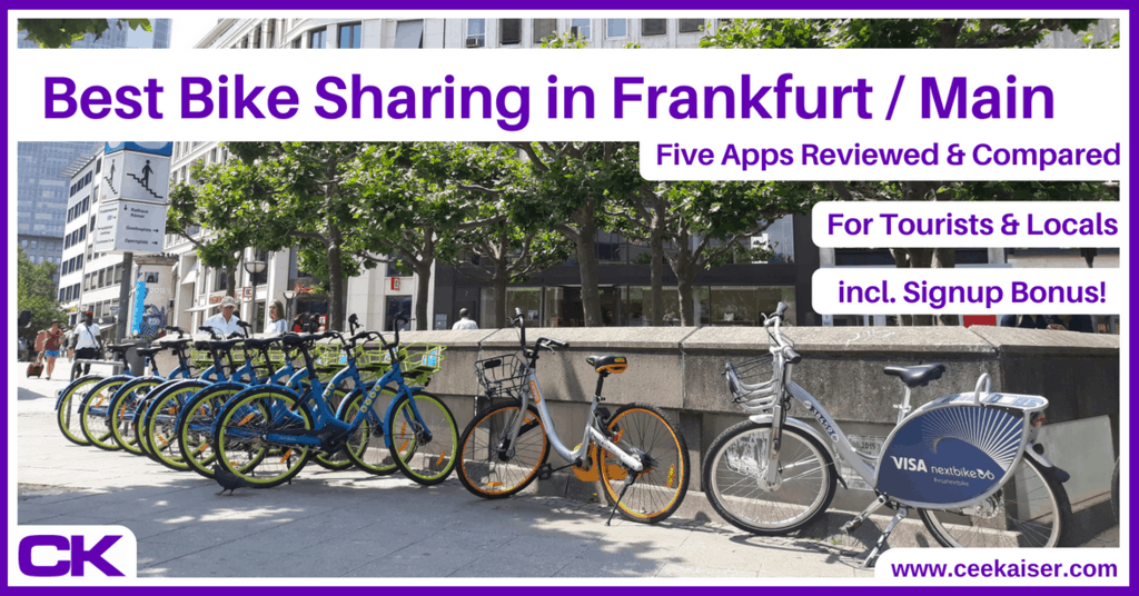 Best Bike Sharing Apps in Frankfurt am Main for Tourists and Locals - Reviews, Experiences, Comparison, Rating