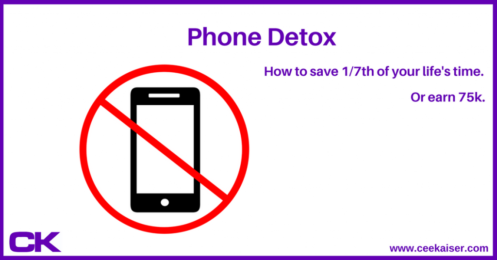 Phone Detox – or – How I involuntarily saved 1/7th of my life's time and could have earned 75k extra
