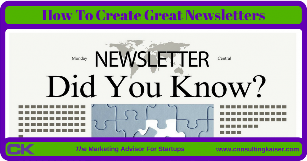 How To Create Great Newsletters