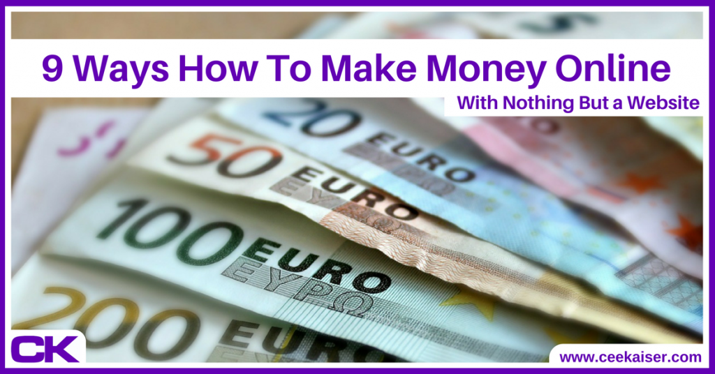 9 ways how to make money online with a website