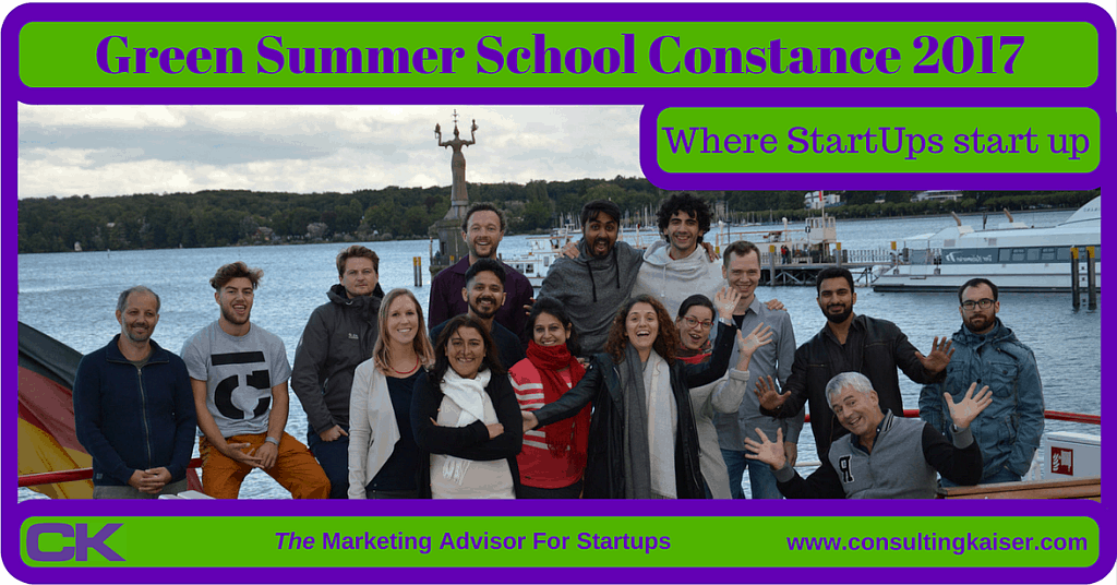 Green Summer School Constance 2017 Review – Where Startups Start Up