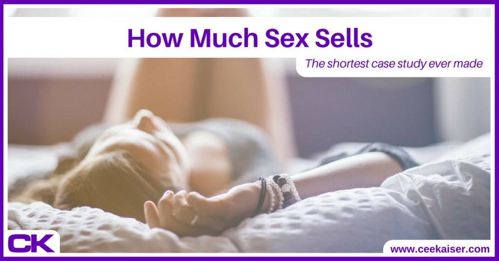 How Much Sex Sells: A super short case study